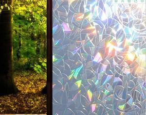 2020 venda quente PVC refractada filme colorido electrostática janela adesiva vidro pode remover a janela de vidro crescente