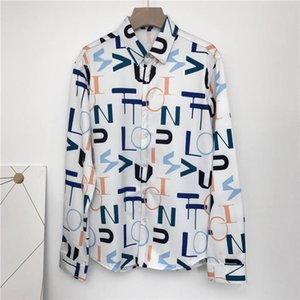 2020Brand New Mens Dress Shirts Fashion Casual Shirt Men Medusa Shirts Gold Floral Print Slim Fit Shirts Men