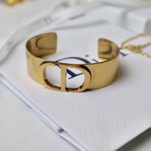 bracelet 2020CD élégant des femmes tout correspondance exagérée lettre d'ouverture bracelet réglable célébrité Internet