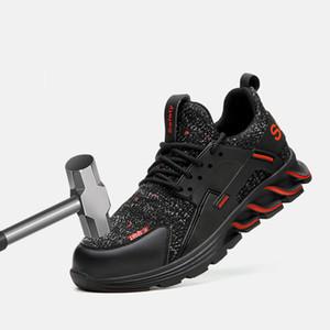 Мужская обувь Открытый Пешие прогулки обувь труда Обувь для мужчин стали мешок зажимающих свет дышащий Анти-запах Работа обуви Охота Boots