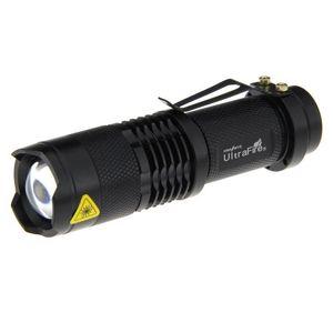 Ultrafire Mini LED / 14500 Zoom Torche Lanterne chasse d'extérieur en aluminium LUZ Ampoule