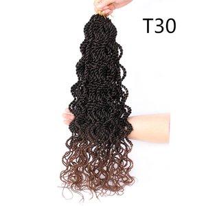 Lanzhi Wavy Senegalese Synthetic Twist Hair Curchet 18-дюймовый 15strands Волнистые вьющиеся вязание крючком 60г / ПК Сенегальский поворот