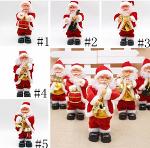 الرقص سانتا كلوز عيد الميلاد دمية الكهربائية بابا نويل لعبة كهربائية الموسيقى سانتا كلوز لعبة عيد الميلاد حزب زينة عيد الميلاد هدايا DHD177