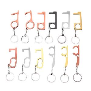 Дверной доводчик Бесконтактный Ручной Brass EDC брелок Инструмент Offering Бесконтактный отпирания двери Крючок Stylus Utlity Инструмент бесконтактной открывания двери