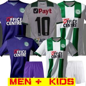 camisetas de fútbol de los hombres + KIDS 20 21 FC Groningen hogar lejos Robben 2020 2021 Groningen Zeefuik Daishawn Redan camisetas de maillot de pie