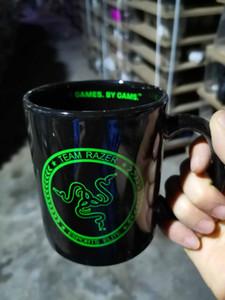جديد DeathAdder الماسح أسود غير لامع أبيض فنجان القهوة لعبة لاعب جمع طبعة السيراميك القدح سطح المكتب 12OZ