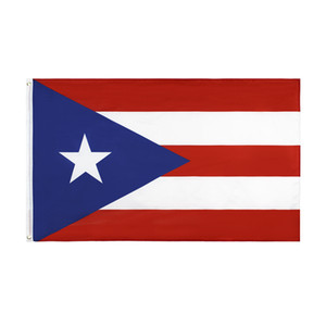 Free Shipping In Stock 3x5ft 90x150cm Hanging PR Puerto Rico Porto Rico Flag and Banner for Celebration Decoration