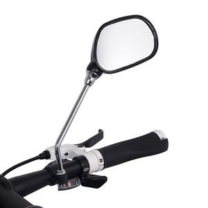 1 쌍의 각도 조절 자전거 핸들 후면 거울 산악 도로 자전거 오토바이 백미러 자전거 라이트 리플렉터