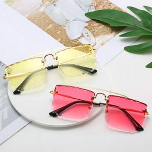 Double Beam Trimmed Square Sunglasses Long Keeper Cat Eye Sunglasses Men Women Retro Square Sun Glasses Eyewear Eyeglasses Metal THEyQ