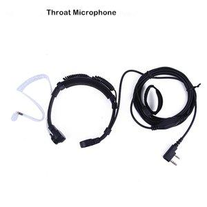 YIDATON Mic Auricular Headset extensible Garganta micrófono para walkie talkie de Baofeng UV-5R UV-5RE Plus UV-B5-B6 UV GT-3 Radio CB