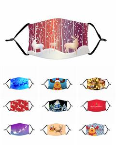 Fête de Noël Masques Masque Divertissement cosplay numérique Imprimer masque nouveauté crâne de coton pour hommes femmes cosplay visage poussière masque coupe-vent masque facial