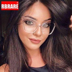 RARERB Cateye Occhiali montatura degli occhiali Donne vetri quadrati Lenti incolori Eye Glasses Frames per le donne lunette de Vue Femme