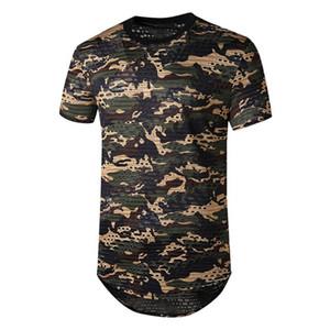 Mens Tshirt estate a maniche corte superiore di modo di pendenza Sport Casual Top Homme confortevole cotone maglietta S-2XL