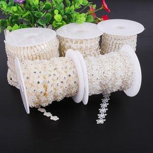 u5AIC Double-line wire wedding accessories Wedding Diamond dress bead with diamond ABS semicircular bead chain decorative chain handmade acc