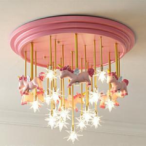 Chambre d'enfant Cartoon conduit lampe de plafond Salon Chambre Plafond Nordic Light Net Led rouge lumières Équipement pour la maternelle salle d'étude