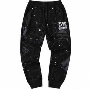Les hommes occasionnels Starry Sky Sport Pantalons desserrées été longues Pantalons Saisons Mode Pancil Pantalons Homme Imprimer Vêtements rj3o #