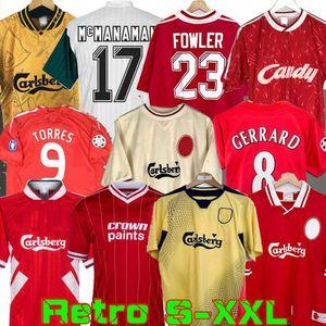 04 05 Retro Futbol Forma Gerrard 1982 FOWLER Dalglish Futbol Gömlek 1989 Maillot 06 07 Barnes 95 96 93 McManaman 85 08 09 Rush 97 Torres