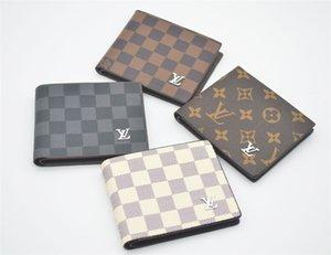 2020 Paris xadrez estilo mens carteira para os homens e mulheres bolsa bolsa de couro especiais múltipla short Louis Vuitton carteira pequena bifold Gucci 231