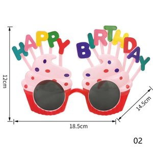 2020 Creative Festive Party Cake Shape Sunglasses Multi-colors Daisy Funny Happy Birthday Glasses Parties Supplies Photos Props