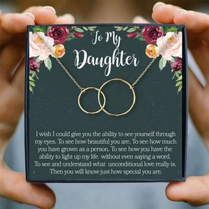 Family Women Pendants Necklaces Chain Necklaces for Ladies Girls to My Daughter Jewelry & Accessories Rose Gold Love Gift