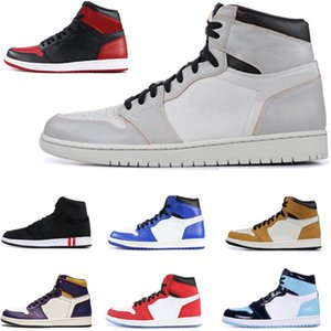 Cheap 1 High OG Banned Toe Bred scarpe Travis Scotts Bassa Fearless Obsidian Mens Basketball Chicago Olimpiadi 1s Gioco Royal Blue Donne Sport Sneakers