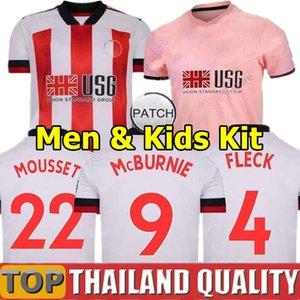 20 21 شيفيلد يونايتد قمصان كرة القدم MOUSSET 2020 2021 McBURNIE LUNDSTRAM FLECK قميص كرة قدم شارب النرويج رجال كيت كيدز زى موحد