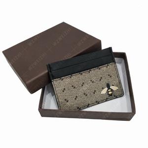 Dos homens novos e moda clássico saco de cobra coral tigre abelha cartão de impressão de lazer das mulheres cartão de crédito titular do cartão bolsa de couro ultra fino Bag