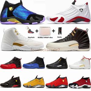 Schnelle Lieferung Free Box Socken Jumpman 14 14s Chamäleon Doernbecher Candy Cane Bred Herren-Basketball-Schuhe 12 12s Flügel CNY der Master-Turnschuhe