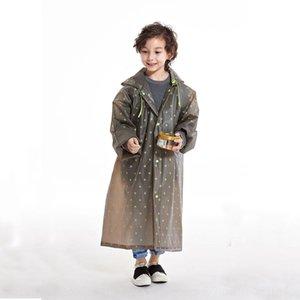 TlEHQ étoiles de style épaissi transparent d'une seule pièce pour enfants imperméable long imperméable imprimé étoiles épaissie imprimer Imprimer Raincoat imperméable à l'eau