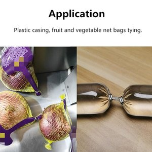 Electric good sausage casing double clipper machine latest clipping machine for fruit vegetable packing onion grapefruit mesh bag tying