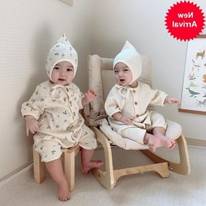 toddler 2020 new girls boys 2 pcs set t-shirt+long pants fashion summer cotton kids pajama suit 1-6 years HV87