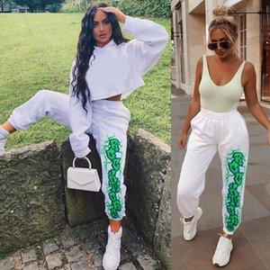 Pantalons Joggers coton Harem avec impression taille élastique Pantalons Automne Hiver Femmes Pantalons Gothique Harajuku