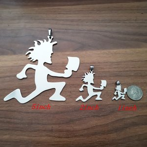 Brandnew 1 inch  2 inch  5 inch Top Quality large big ICP HATCHETMAN charms stainless steel jewelry hatchet men style free 30''ball chain
