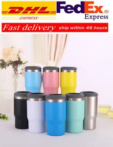 Fast DHL Double Wall Insulation Stainless Steel Tumbler Vacuum Travel Mug Cup Coffee 14OZ