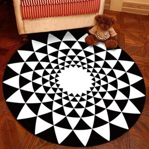 Северный стиль геометрический круглый ковер домашний декор прикроватный ковер детский игровой площадку