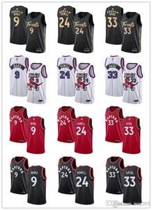 Frauen der Männer JugendTorontoRaptors9 SergeIbaka 33 MarcGasol24normannischPowell Custom Basketball Jerseys