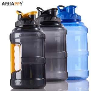 2.5L Wide Mouth Plastic Sport Water Bottle Outdoor Sports Large Capacity Water Bottle Space BPA Free Drinking Bottle Water T200624