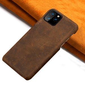 LANGSIDI pull-up caixa do telefone de couro genuíno para iphone 11 11Pro X XR XS Max 6s 7 8 Plus 6 5 5S SE 2020 Proteção da tampa traseira
