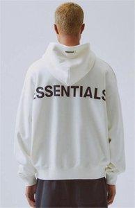 19FW Reflektierende Oodie Herren Gott Neue Sweatshirt Angst Fleece of Long Woman Ooded Cotton FXWY087 # 430 Unglückliche Paar Sleeve Essentials Pullover Nnbr