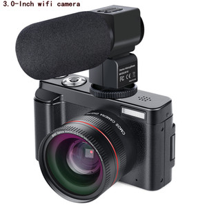 Novo portátil Sistema Mirrorless câmeras 16X Zoom Digital 24MP 3.0 polegadas TFT Face Recognition Anti-shake HD WiFI Camera