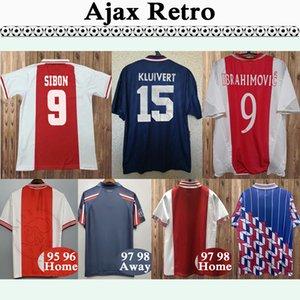 Ajax 98 99 Sibon Litmanen SIER Mens Retro-Fußballjerseys 04 05 IBRAHIMOVIC Boukhari Startseite Fußball-Hemd 94 95 Kluivert Rijkaard Auswärts Uniform