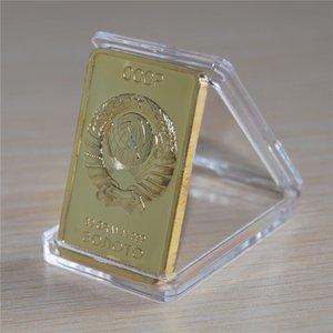 24K külçe altının Bar SSCB Ulusal Amblem Gold Bar Sovyet Hatıra Souvenir Para Metal Dekorasyon Hediyeler