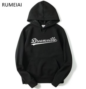 20SSSMen Dreamville J. COLE Sweatshirts Autumn Spring Hooded Hoodies Hip Hop Casual Pullovers Tops Clothing