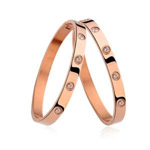 luxo clássico designer de jóias mulheres pulseiras 18k encantos amor parafuso de aço inoxidável pulseira de ouro dos homens pulseiras Bracciali atacado