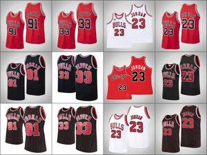 ChicagoBullsMen Retro Michael Jor dan MJ Scottie Pippen Dennis RodmanNBA 1997-98 All-Star HardwoodClassics Jersey