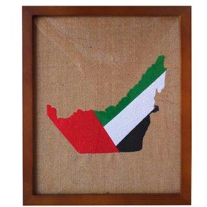 arte de madera Paint Unidos UAE indicador Correspondencia Eid Adha bordado marco de pared musulmanes colgantes accesorios de oficina en casa