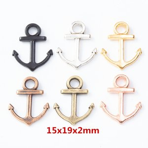 200pcs 15*19MM Antique Vintage silver plated anchor charms metal alloy anchor pendants for bracelet earrings necklace diy jewelry making