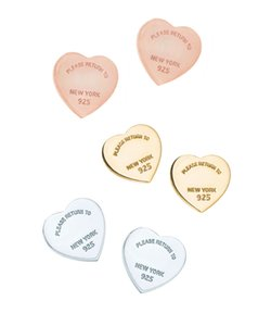 New cute lovely simple 3d heart shape printed letter stud earrings for woman girls fashion design
