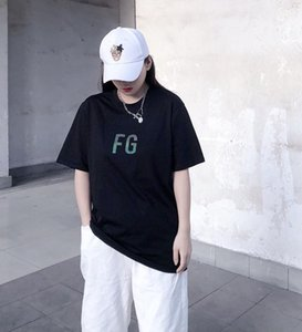 20SS Medo de Deus FOG 3M FG Tee Três Deuses Oil religiosa Pintura T-shirt T-shirt manga curta Summer Street Vintage Homens Mulheres