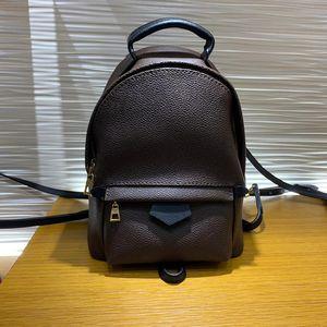 Sac de bonbons de qualité supérieure 5A PALM SPRINGS femmes de dame cartables en cuir véritable sac à dos mode mochilas femmes sac avec boîte B010